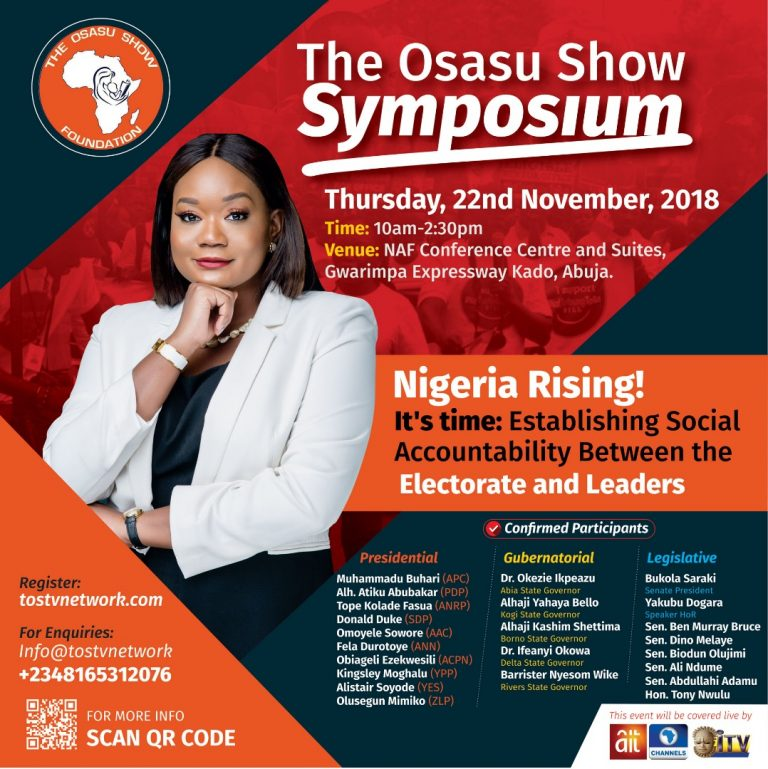 UPCOMING EVENT: The 2nd Edition of The Osasu Show Symposium